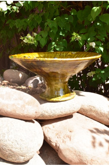 Large ocher tamgroute salad bowl
