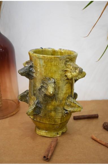 Yellow irregular vase Tamgroute