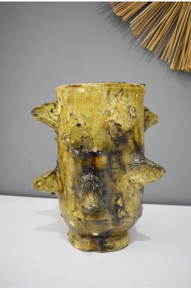 Vase irrégulier jaune Tamgroute