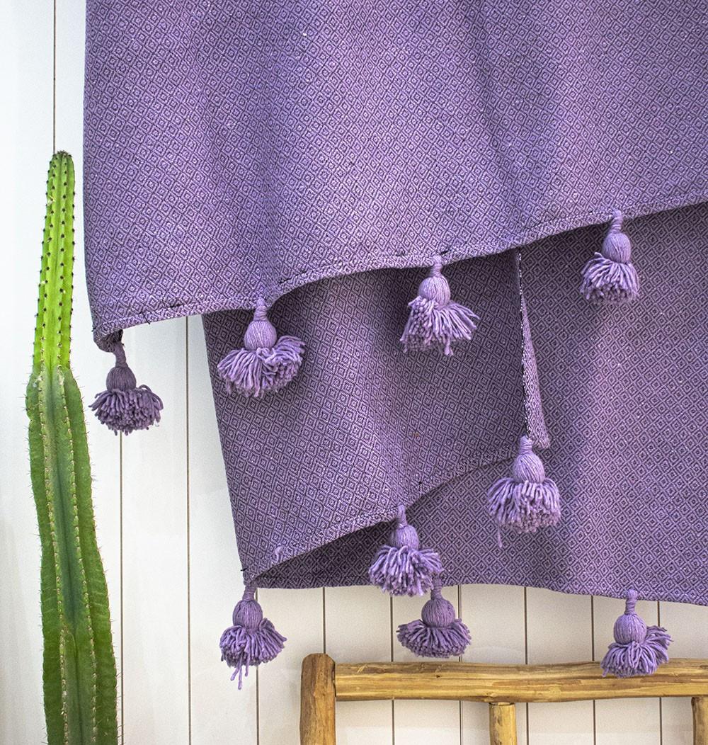 "Berber plaid ""Violet"""