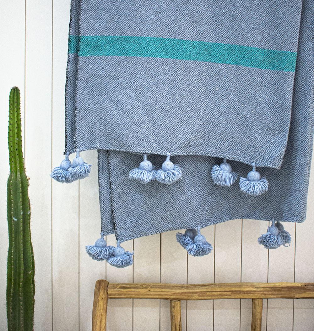 """Berber plaid """"Bluish gray"""""""