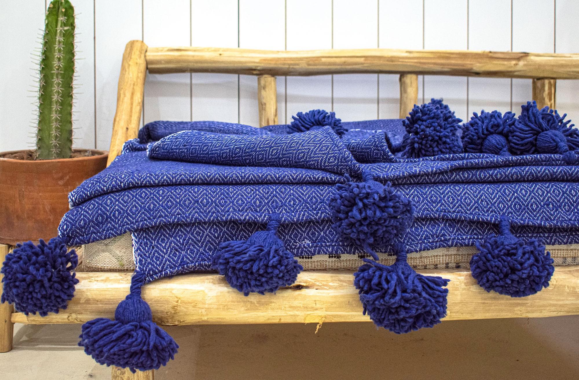 """Berber plaid """"Petrol blue"""""""