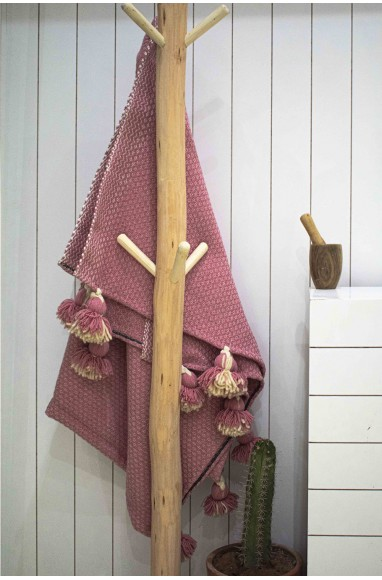 """Berber plaid """"Pale pink and Beige"""""""