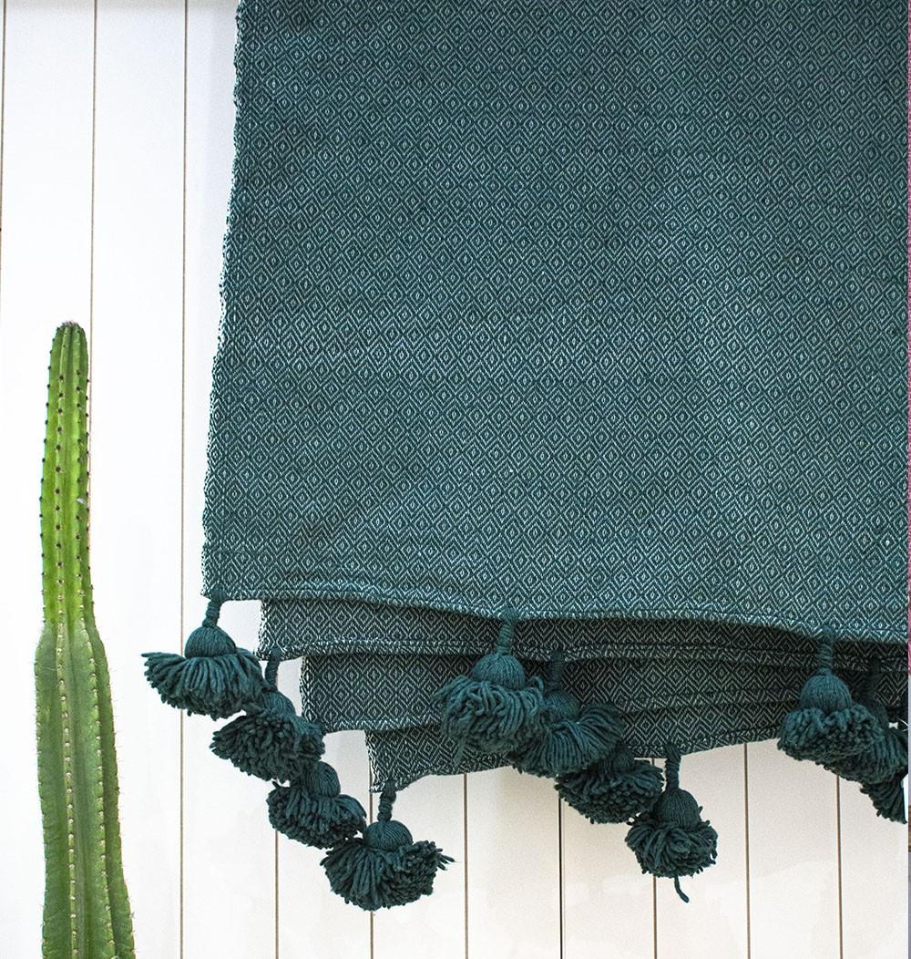 "Berber plaid ""Gray Green"""