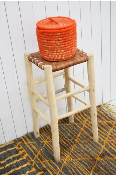 "Palm Tree Basket ""Orange"""
