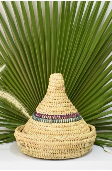 Corbeille en Palmier forme Tajine