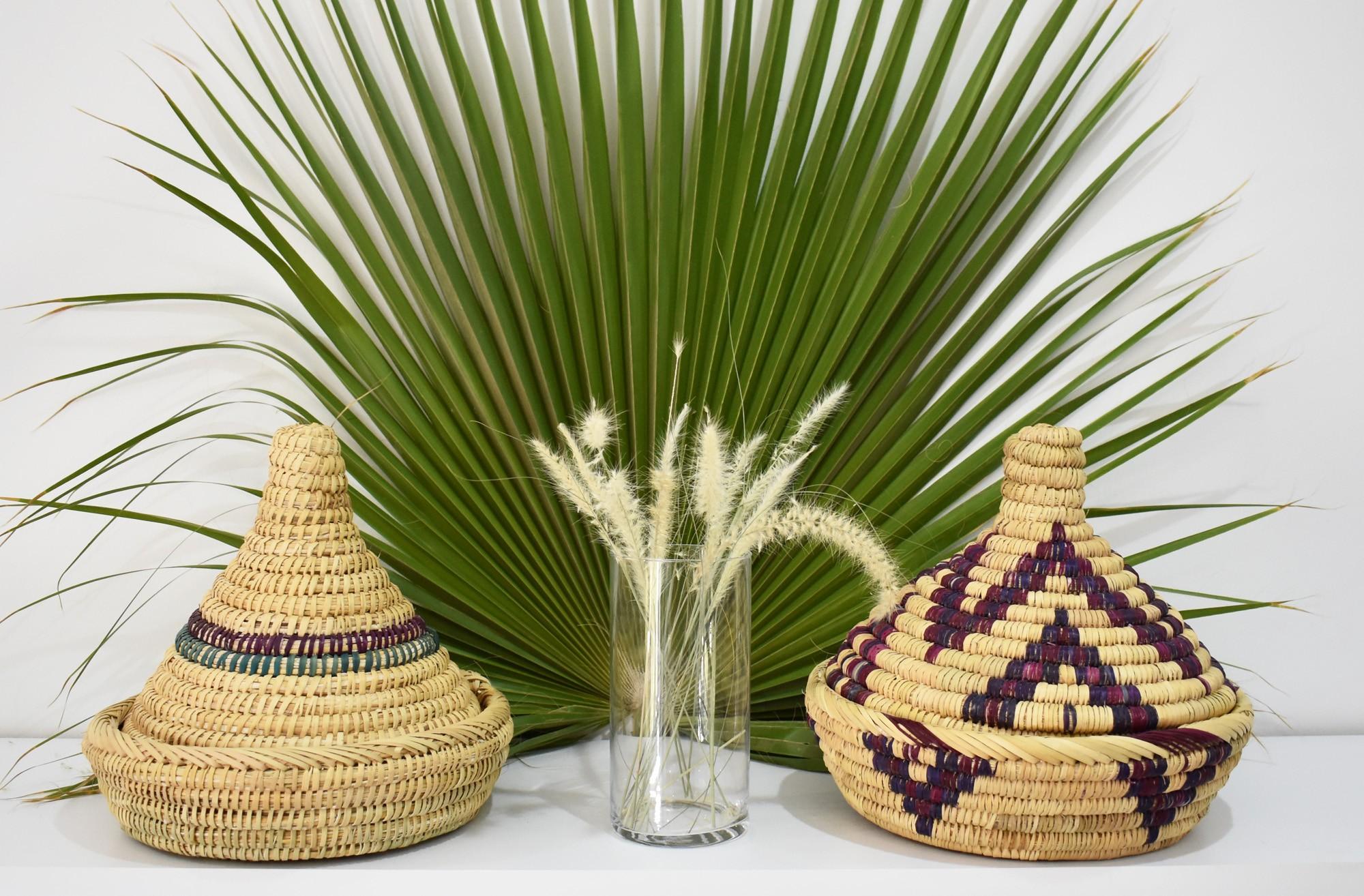 Palm tree basket Tajine shape