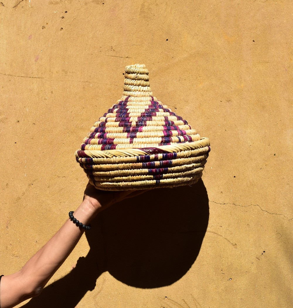 Decorated Tajine Palm Tree Basket