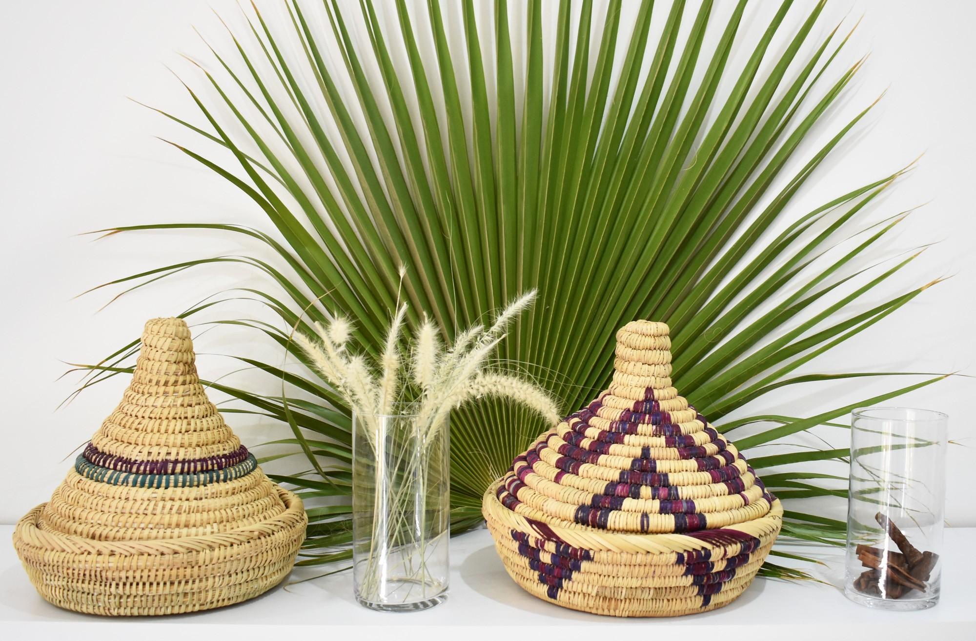 Decorated Tajine Palm Tree Basket