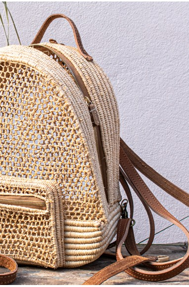 """Ruche"" Palm Tree Backpack"