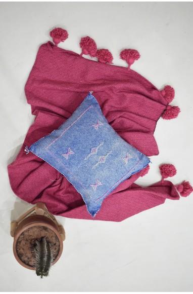 Berber 45x45 faded denim blue cushion cover