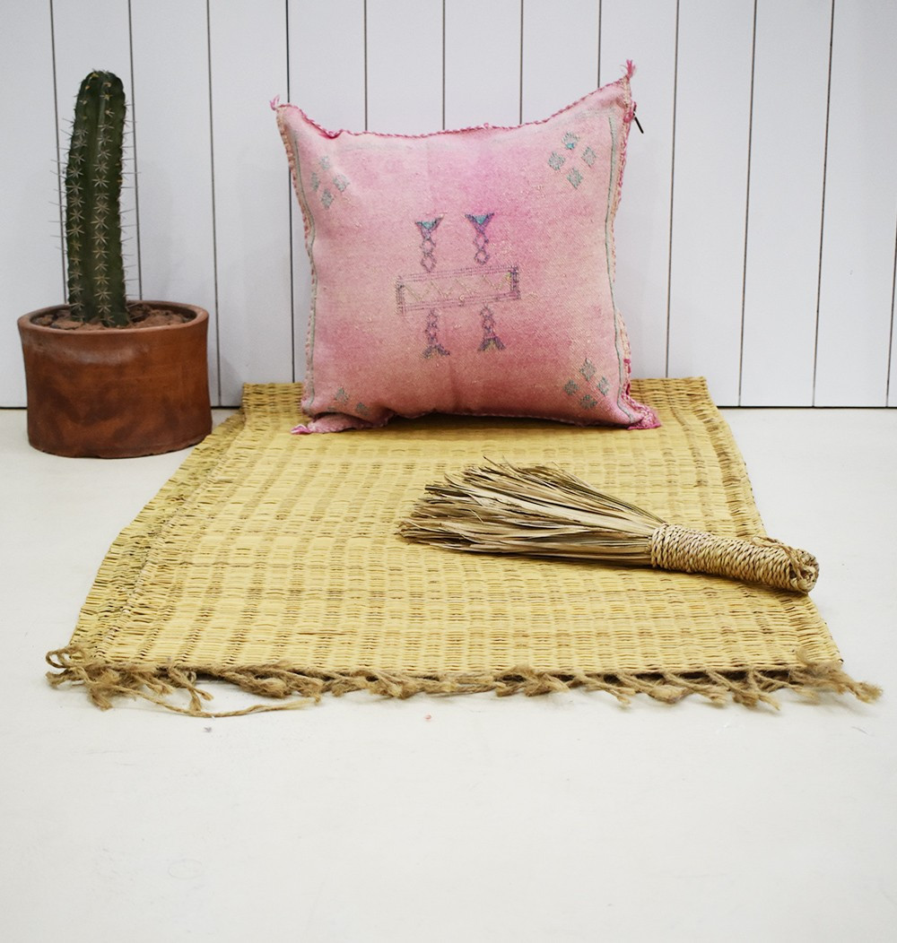 Berber cushion cover 45x45 pink