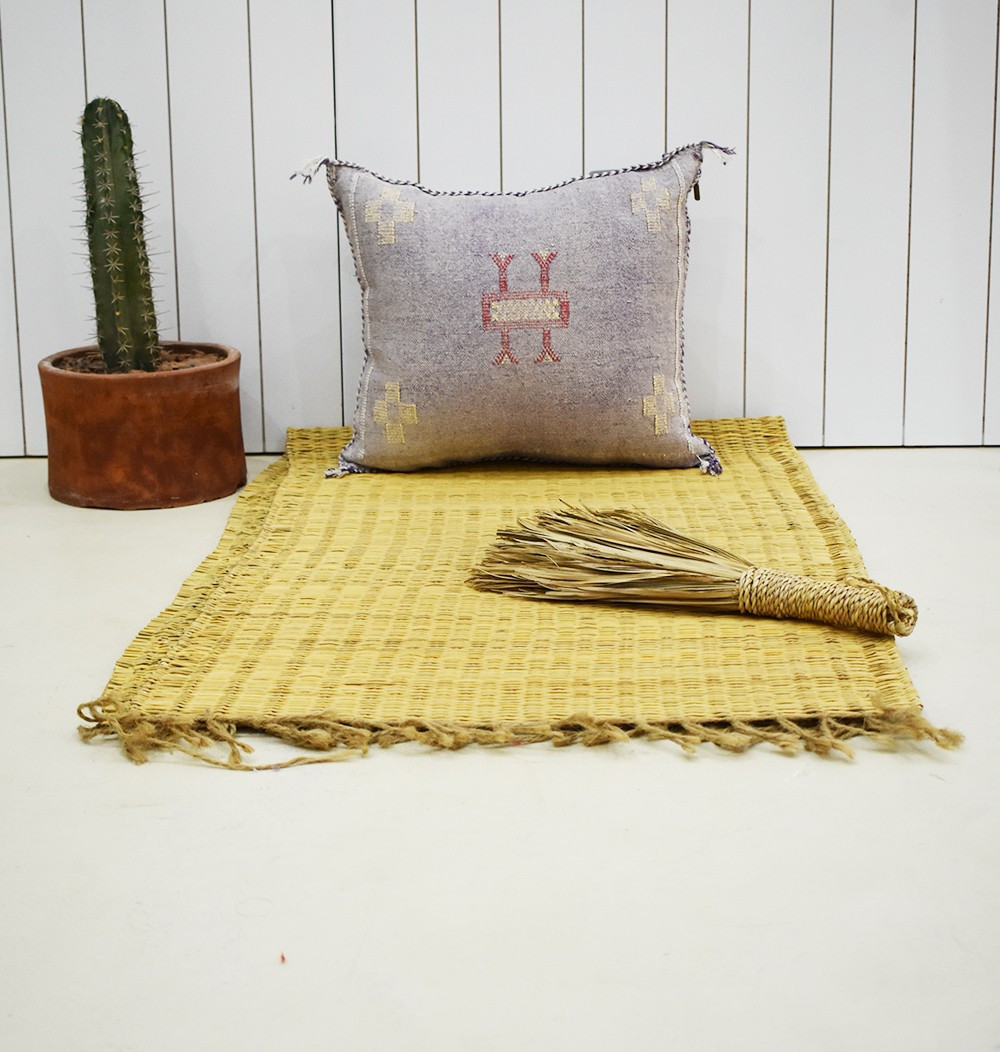 "Berber purple cushion cover ""yellow tips"""