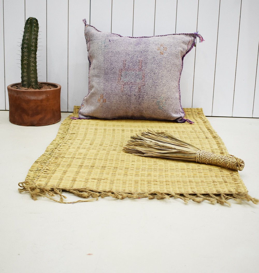 Tonal purple Berber cushion cover