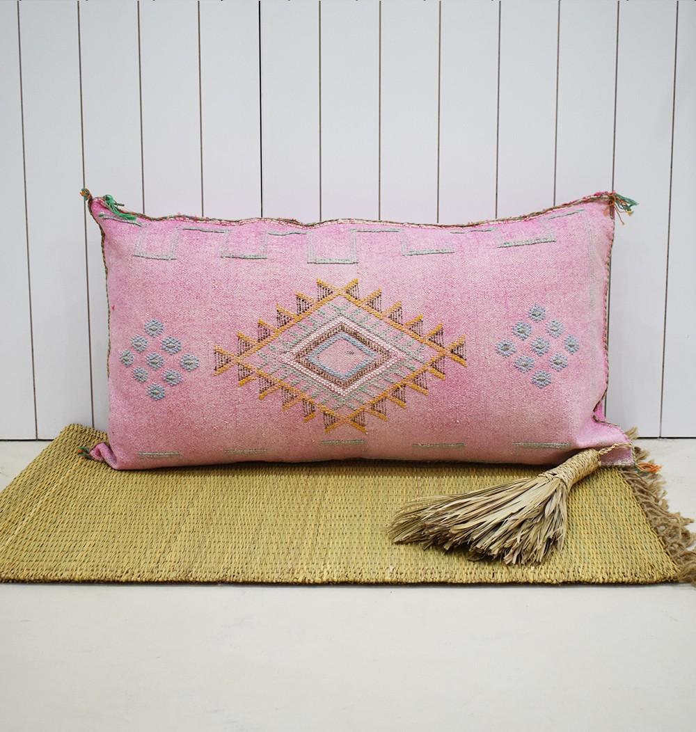Pink sabra bolster