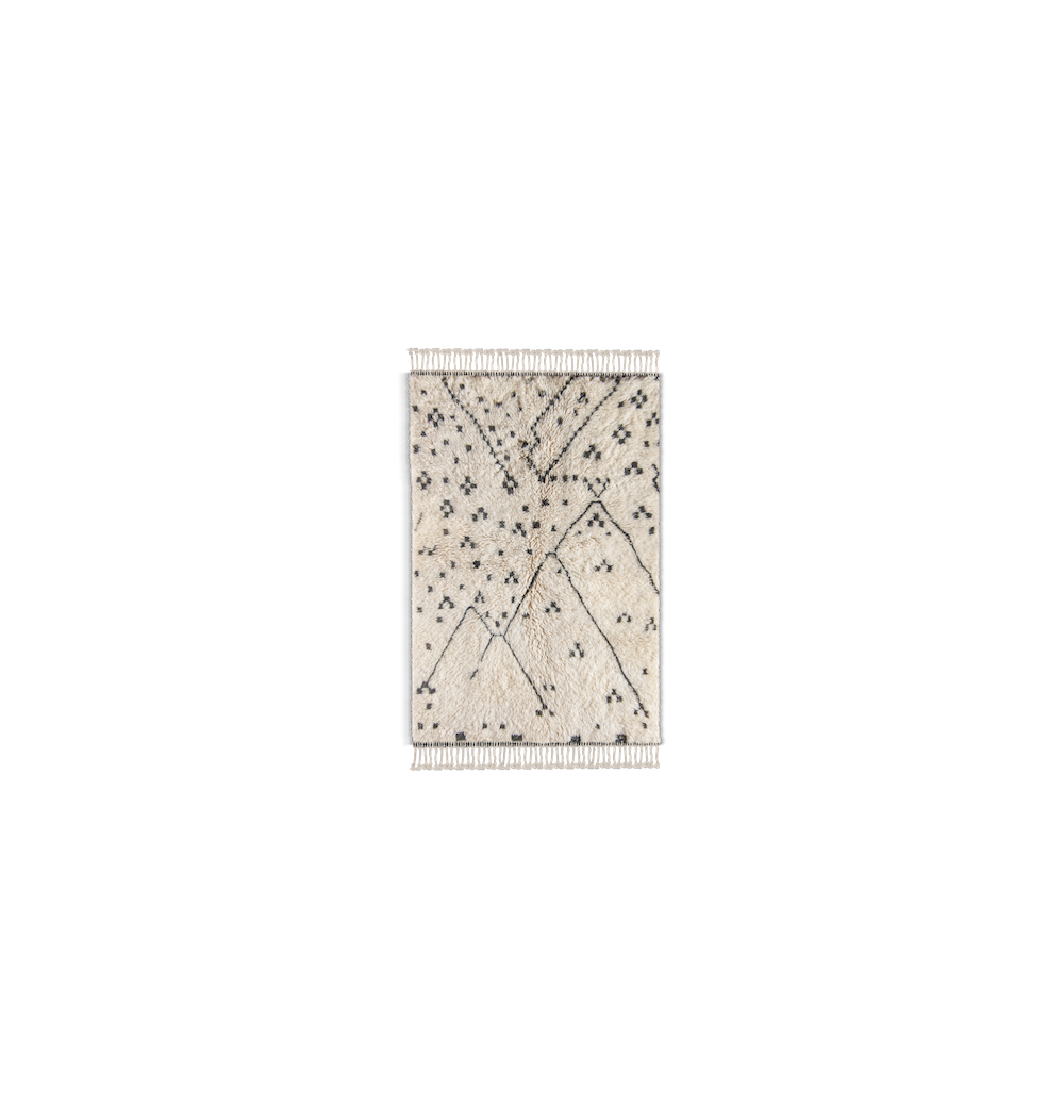 Tapis noir et blanc – Atlas invaders