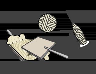 tapis fait main - tapis naturel - outils de tissage