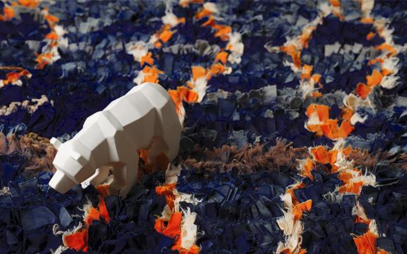 Tapis Boucherouite Patchwork de couleurs