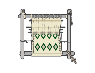 Traditional Berber loom – For handwoven natural carpets