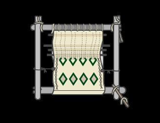 Métier à tisser traditionnel berbère - Pour tapis faits mains et naturels