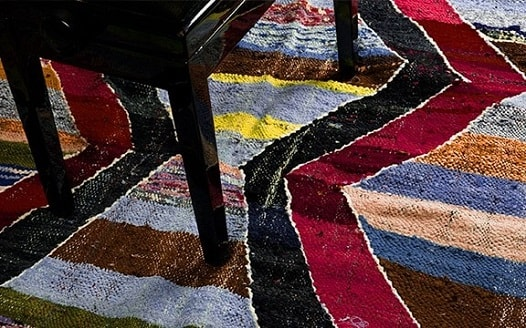 Kilim Carpet – Red Green and multicolour