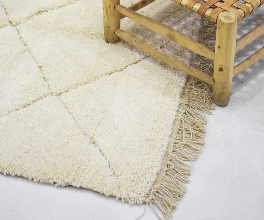 tapis berbère blanc marocain