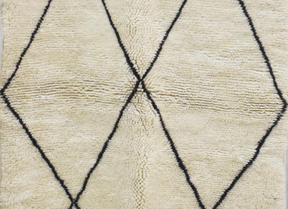 tapis berbere losanges noirs
