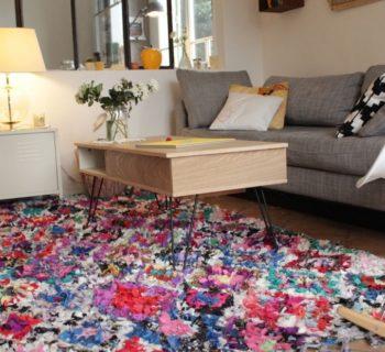 Un tapis vintage dans une décoration d'interieur