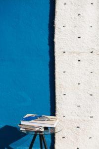 tapis beni ouarain à pois noir sur trame blanche