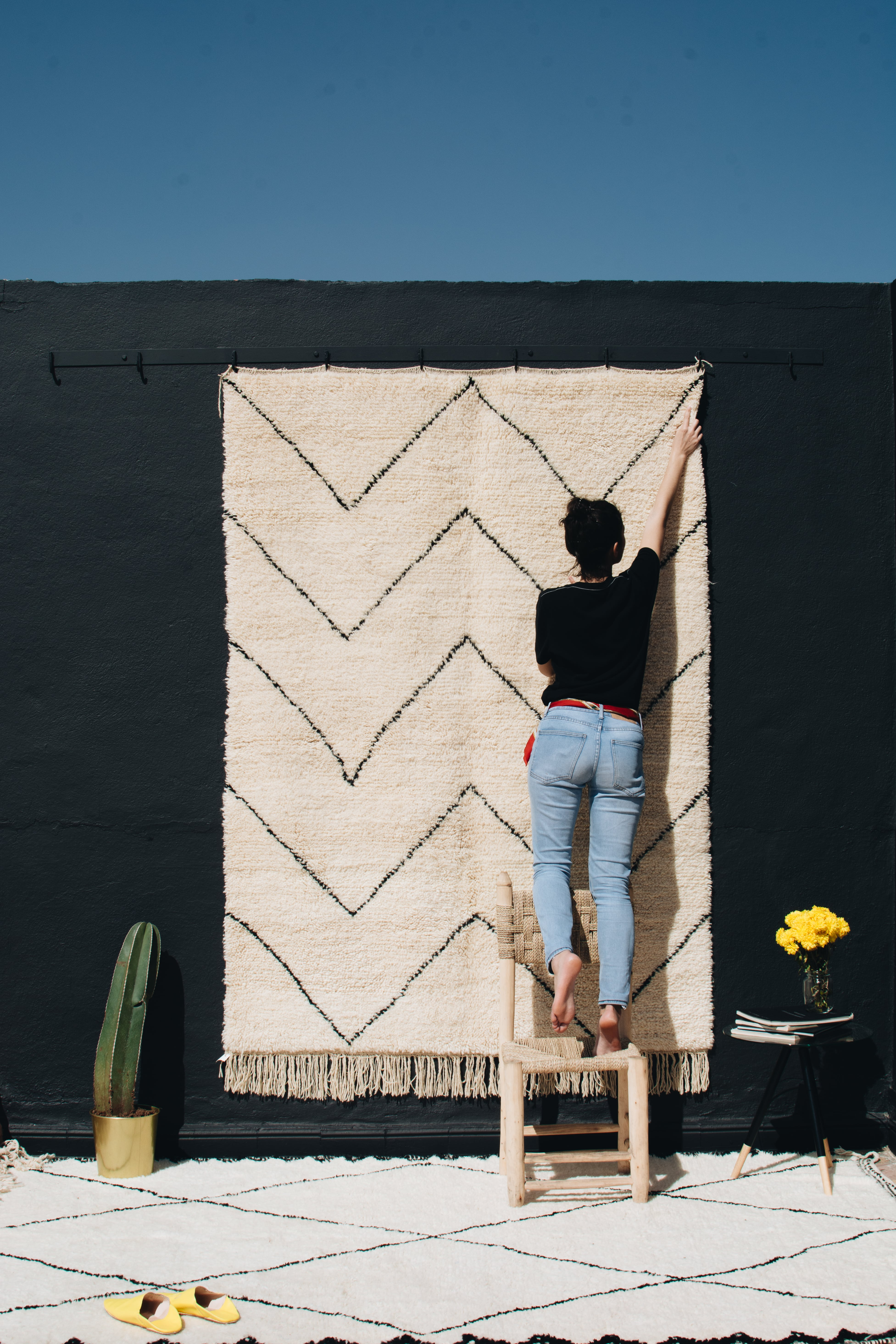 Tapis Beni Ouarain Noir the beni ouarain carpet a berber classic | tribaliste magazine