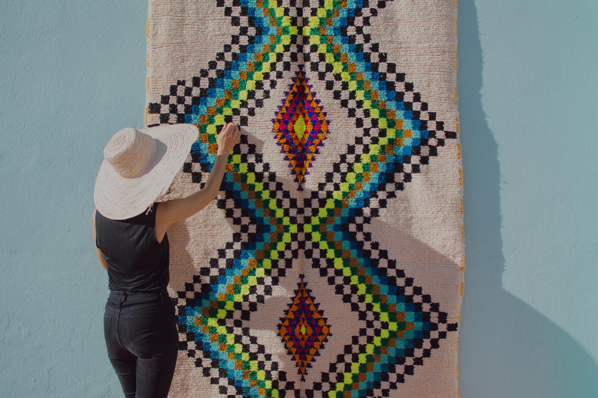 tapis azilal berbère fluo et coloré