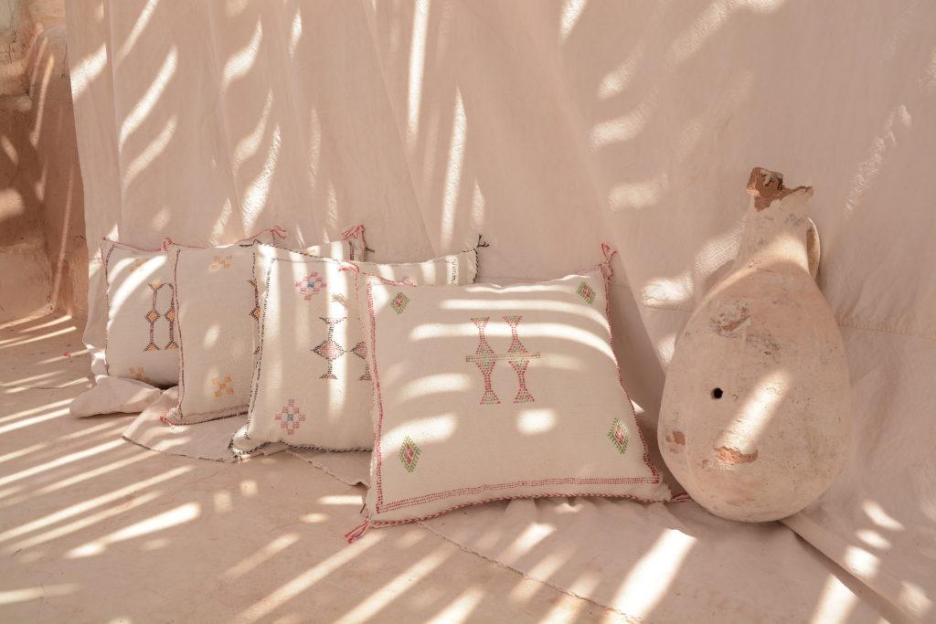 coussin sabra blanc